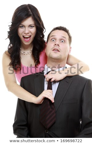 Woman pulling man's tie Stock photo © photography33
