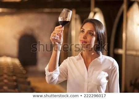 женщины винный погреб рюмку вино стены стекла Сток-фото © photography33