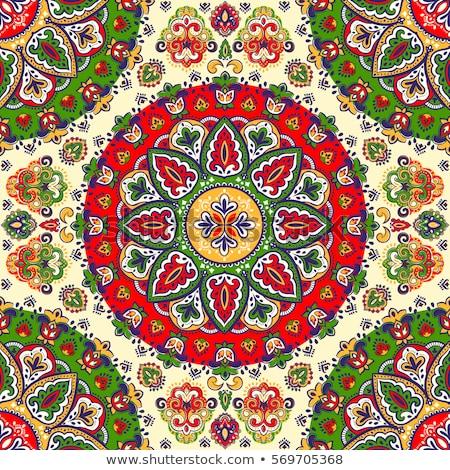 klasszikus · üdvözlőlap · virágmintás · medál · illusztráció · textúra - stock fotó © smeagorl
