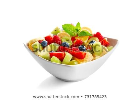 aislado · ensalada · de · fruta · frutas · fresa · cóctel · ensalada - foto stock © M-studio