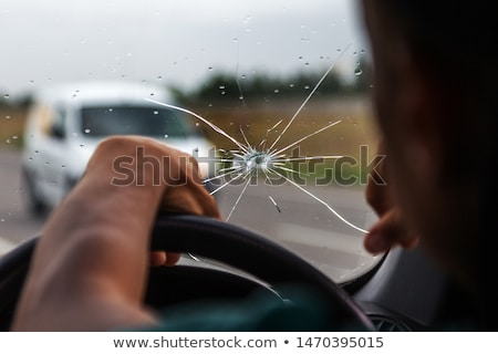 Broken Car Glass  Stock photo © leedsn