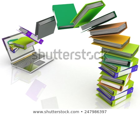 ストックフォト: ファイル · スタック · コンピュータのキーボード · ビジネス