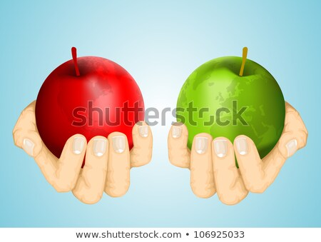 Hand holding a Diet 3D Sphere Stock photo © kbuntu