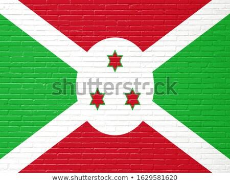 Bandeira Burundi parede de tijolos pintado grunge textura Foto stock © creisinger