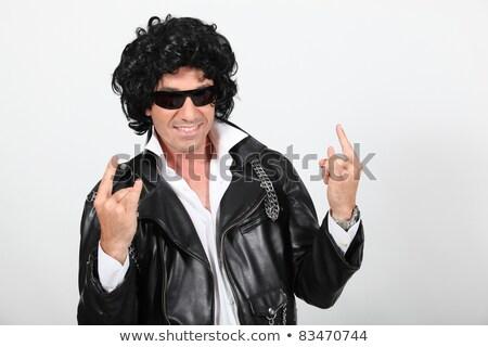 男 着用 サングラス かつら 顔 ストックフォト © photography33