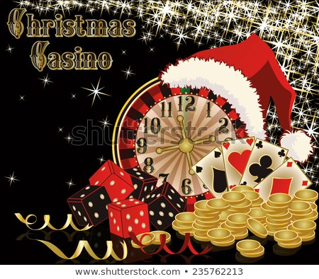 casino christmas cardvector illustration stock photo © carodi