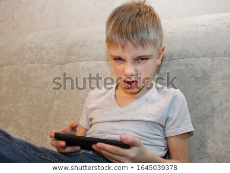 Photo stock: Garçon · jouer · jeux · vidéo · parents · famille · musique