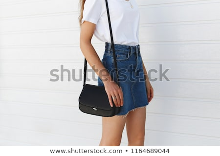denim skirt woman stock photo © keeweeboy