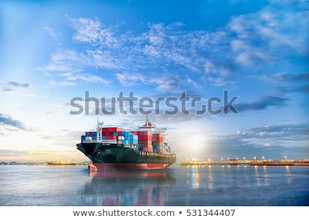 trading seaport with cranes, cargoes and the ship  Stock photo © cozyta