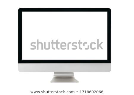 Fémes számítógép lapos kijelző panel izolált vágási körvonal Stock fotó © manaemedia