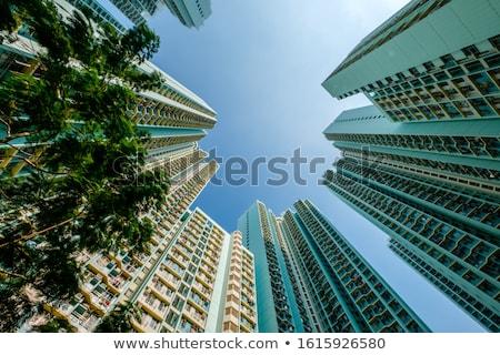 Сток-фото: Гонконг · общественного · жилье · квартиру · небе · воды