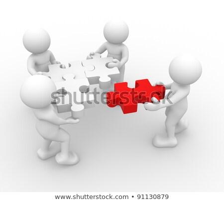 3d Man Puzzle Join Concept Stock fotó © CoraMax