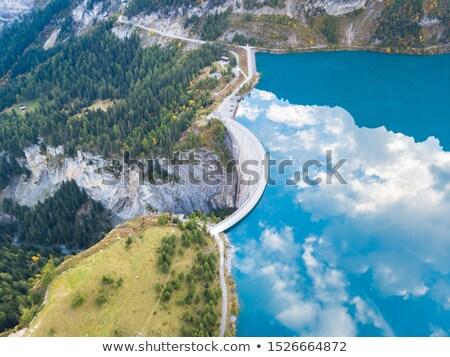 Swiss Alps Dam stock photo © iTobi