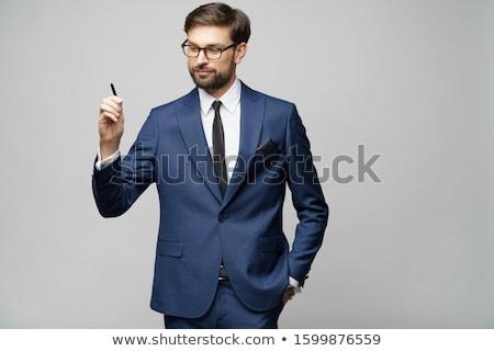 Adam hayali ekran gündelik genç bakıyor Stok fotoğraf © feedough
