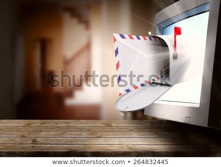 Poczty cyfrowe korespondencja polu list ekranu Zdjęcia stock © stuartmiles