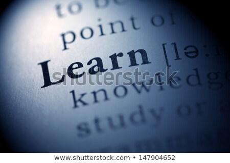 Oktatás szó szótár meghatározás üzlet papír Stock fotó © tangducminh