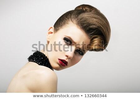 Upset Arrogance Serious Offended Woman With Negative Emotions Jealousy Envy Zdjęcia stock © Gromovataya