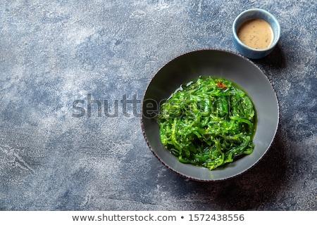 legumes · frescos · salada · nozes · molho · camarão · comida - foto stock © Elmiko
