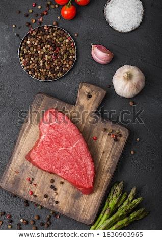 vesepecsenye · steak · rozmaring · koktélparadicsom · vág · vágódeszka - stock fotó © sumners