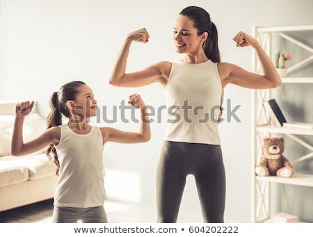 Weinig fitness meisje meisje oefening Stockfoto © val_th