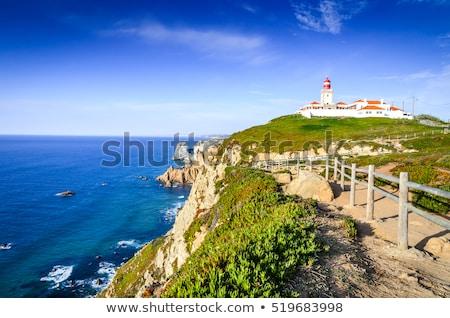 Deniz feneri Portekiz üst tepe batı nokta Stok fotoğraf © gvictoria