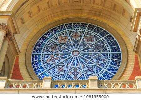 vitrais · janela · igreja · escuro · interior - foto stock © snapshot