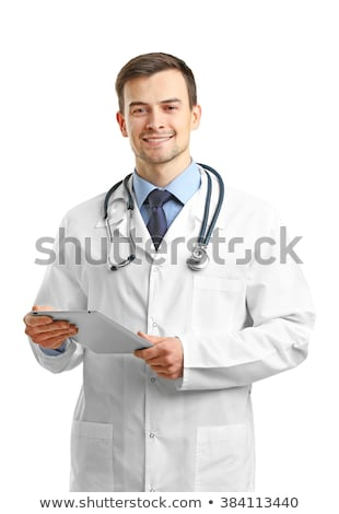 portrait of a smiling male doctor on white background stock photo © vlad_star