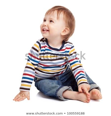 Imádnivaló egyéves gyermek játszik jó idő Stock fotó © dacasdo