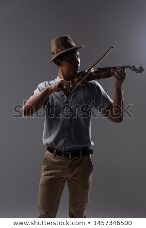 Hand holding a violin. Stock photo © DonLand