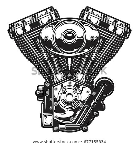ストックフォト: オートバイ · エンジン · クローズアップ · モータ · クルーザー · 金属