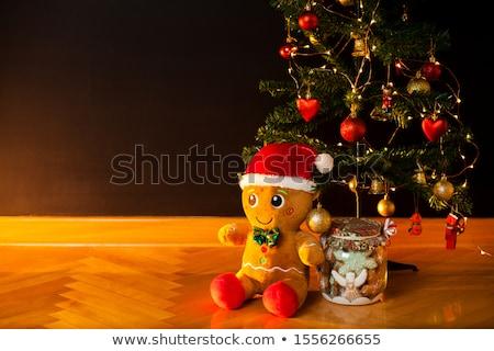 gingerbread · man · natal · coroa · cartão · cópia · espaço - foto stock © ruthblack