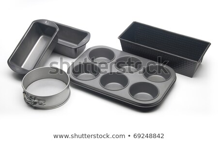 Empty black pan the kitchen ware utensil isolated  Stock photo © JohnKasawa