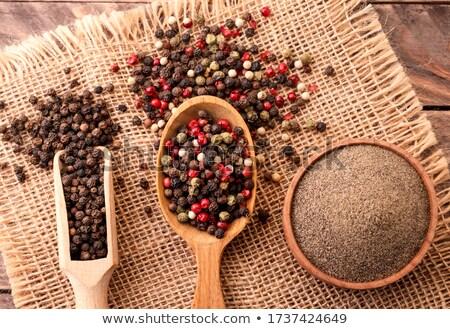 Stok fotoğraf: Baharat · kepçe · karışık · biber · gıda · mutfak