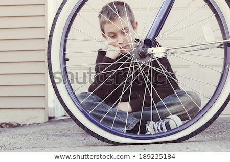 repairing a flat bicycle tire Stock photo © Zerbor