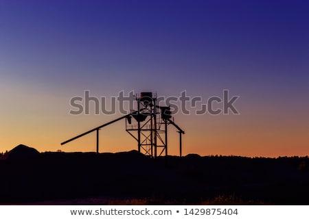 Foto stock: Cascalho · pedras · construção · fábrica · negócio · trabalhar