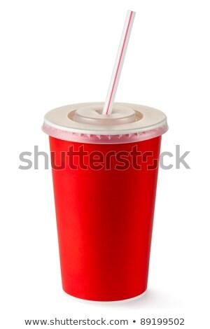 Csészék izolált színes fehér vágási körvonal üveg Stock fotó © dehooks
