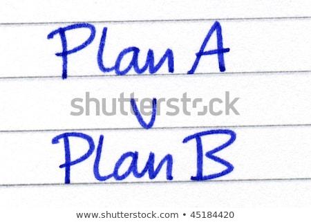 Terv b-terv üzlet papír kék fekete Stock fotó © latent
