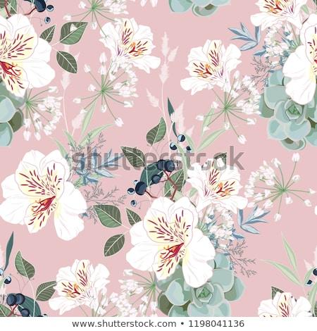 золото Vintage цветочный структур розовый цветок Сток-фото © Ray_of_Light