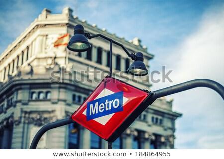 Metra stacja podpisania Madryt Hiszpania Europie Zdjęcia stock © vwalakte