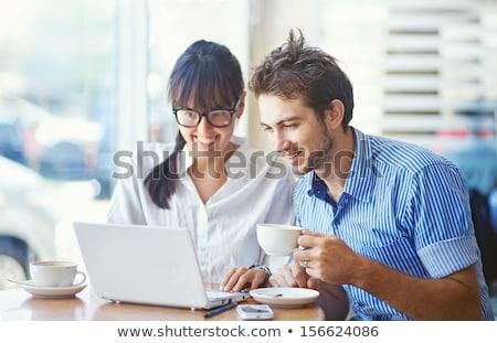 De trabajo colegas hombre mujer sesión Servicio Foto stock © Kzenon