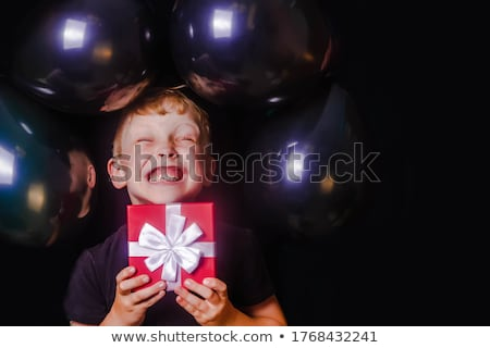 festive blond with gift box stock photo © lithian