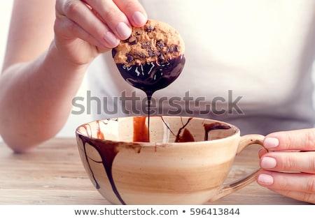 melting chocolate on shortbread Stock photo © prill
