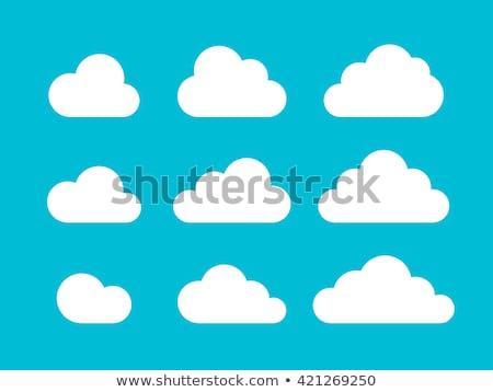 Soyut bulut simgesi vektör Internet imzalamak iletişim Stok fotoğraf © burakowski