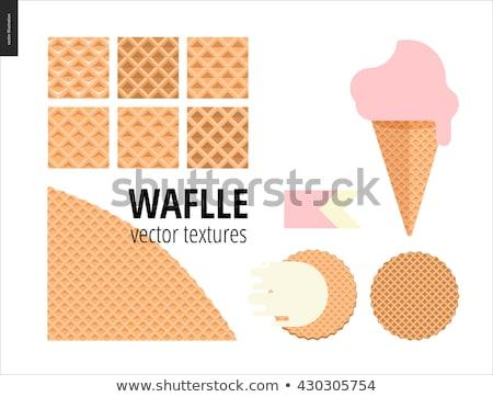 dois · vazio · waffle · cone · sorvete - foto stock © alphababy