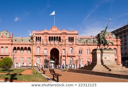 Buenos · Aires · Argentína · kilátás · iroda · elnök · égbolt - stock fotó © elxeneize