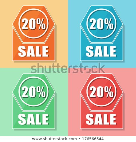 20 Проценты продажи четыре цветами веб-иконы Сток-фото © marinini