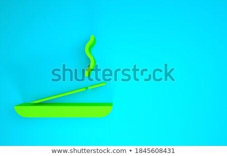 Tömjén 3d render egy bot füst víz Stock fotó © Elenarts