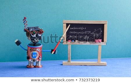 robot · öğretmen · sınıf · 3d · render · eğitim · tahta - stok fotoğraf © kirill_m