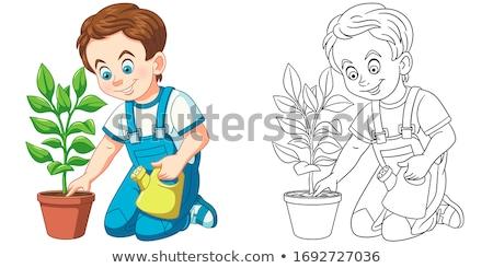 T Shirt Template- sketched seedling Stock photo © shawlinmohd