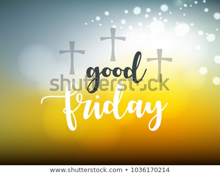 Beautiful card colorful religious background for good friday bro Stock photo © bharat